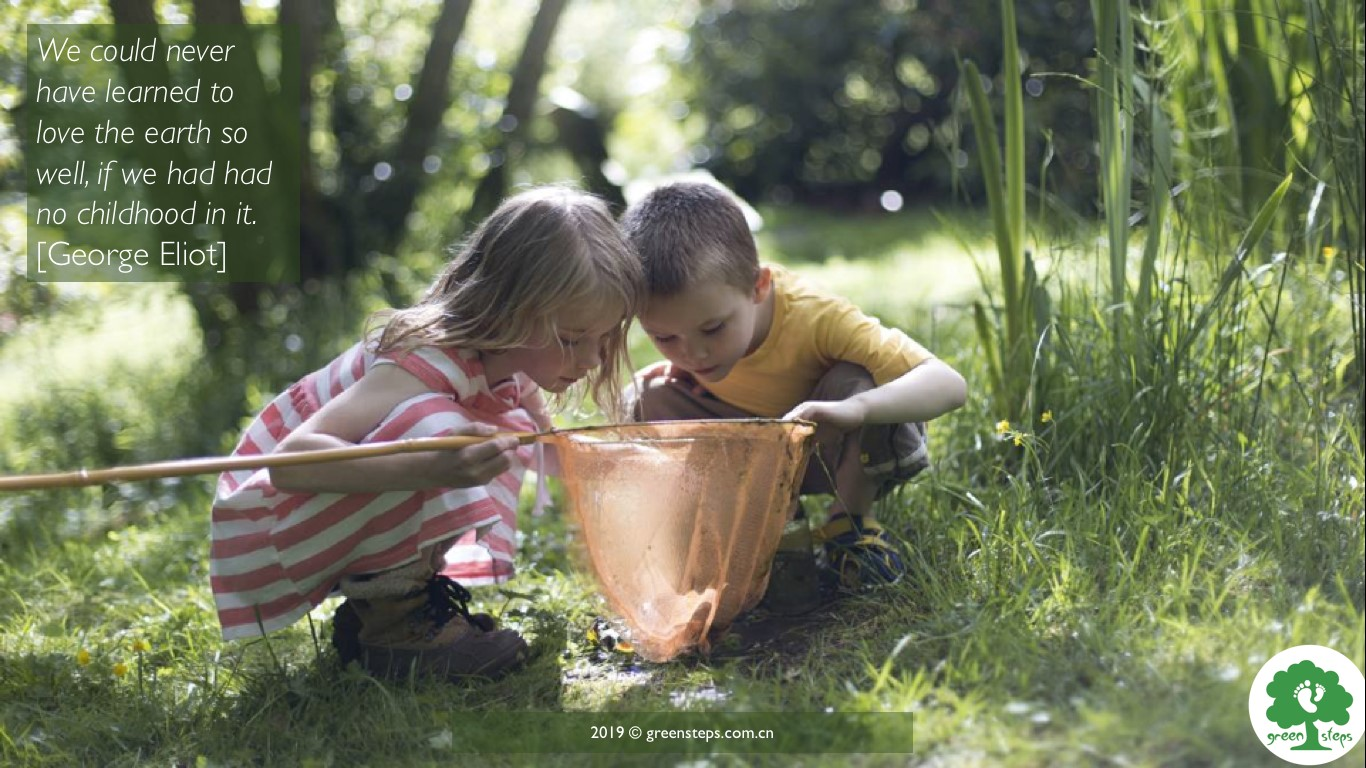 two children nature playing